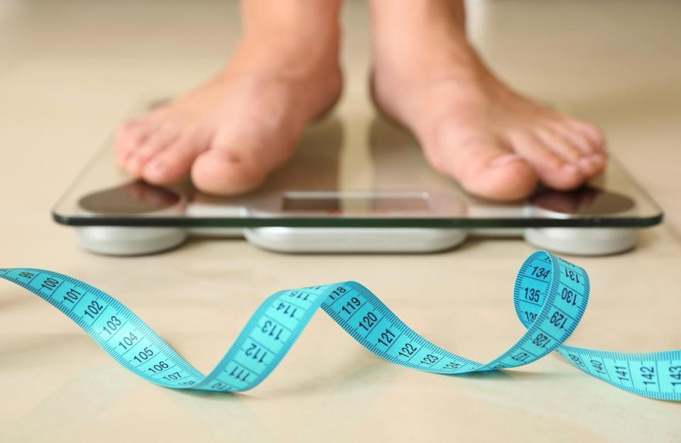 maigrir sur une balance